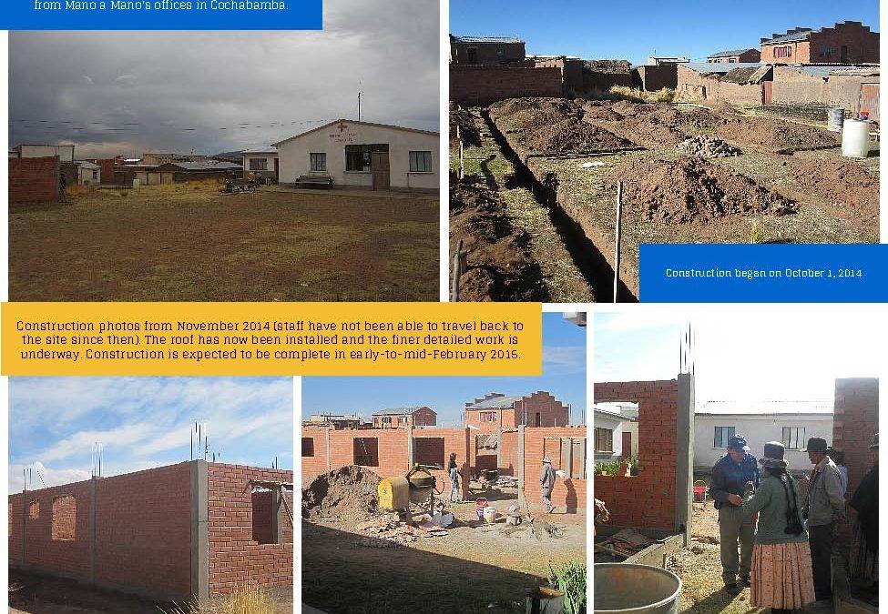 New Clinic in Jihuacuta, Bolivia Almost Complete
