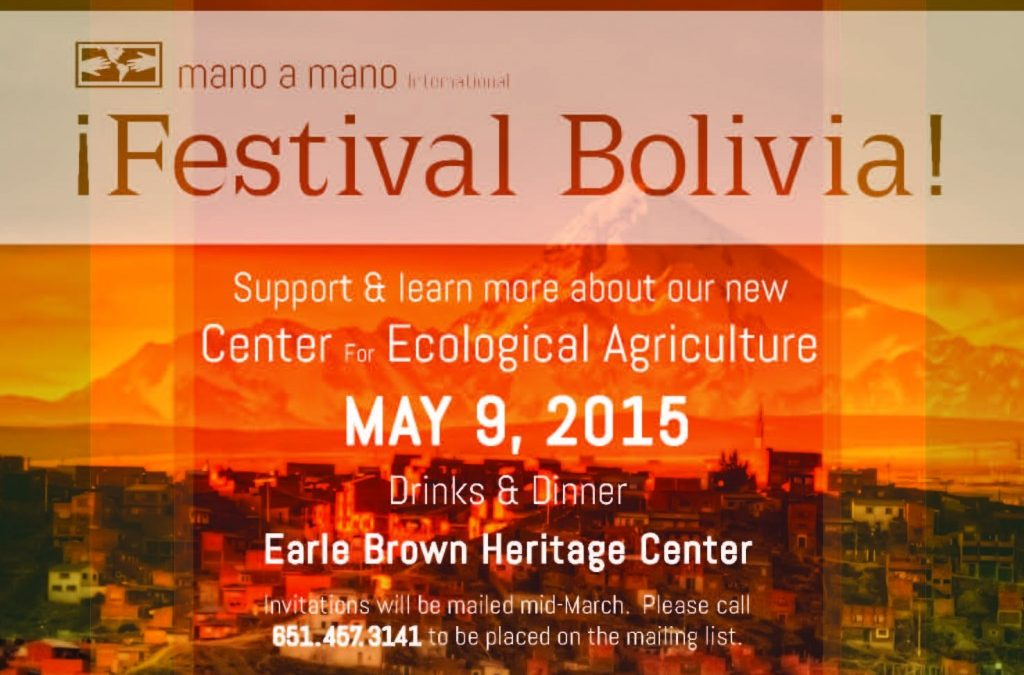 Save the Date – Festival Bolivia 2015 on Saturday, May 9