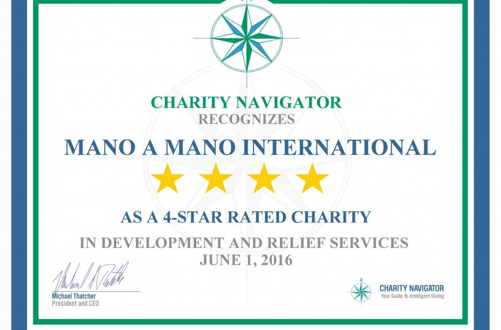 Mano a Mano Receives 4-Star Rating From Charity Navigator