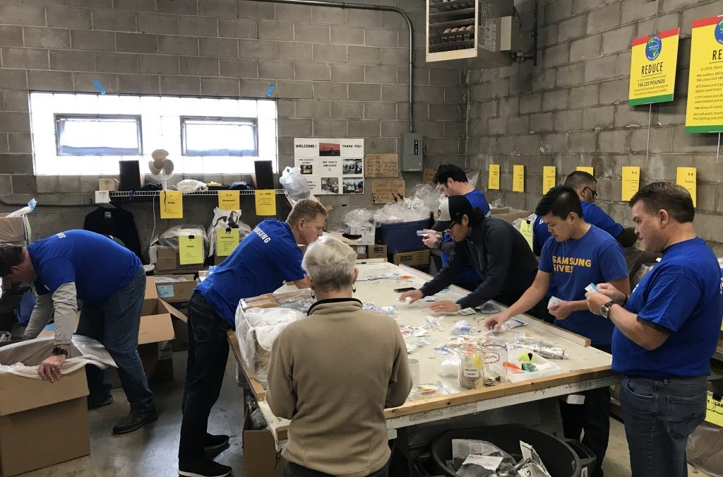 Thank You Samsung and St. Kate's Volunteers – October 2018